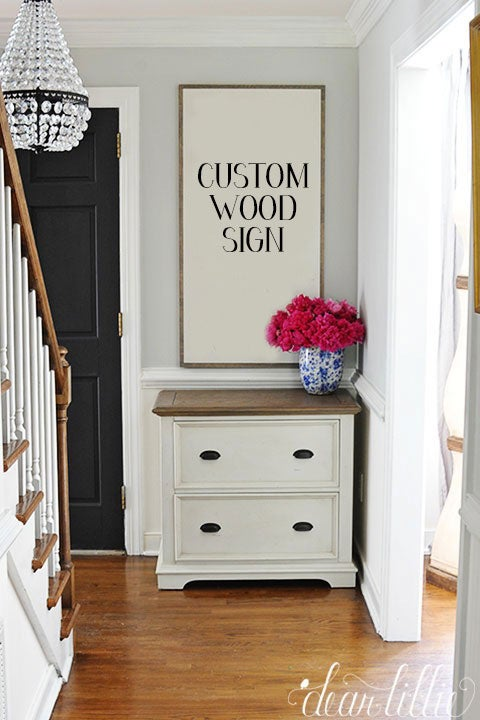 Image of Custom Handmade Oversized Wood Sign