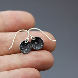 Image of Tiny Silver Queen Anne's Lace Earrings