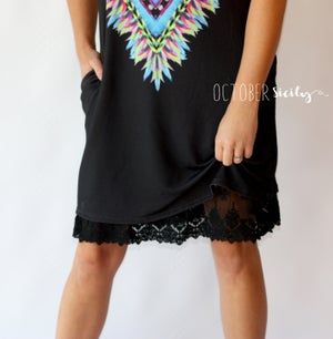 Image of Layered Lace & Chiffon Dress Extender *Style LC*
