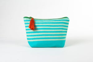 Image of Small Tassel Bag Turquoise/Celery
