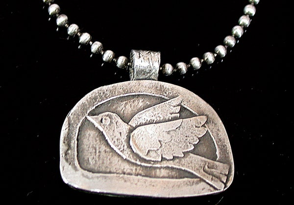 Image of Dove pendant with ball chain