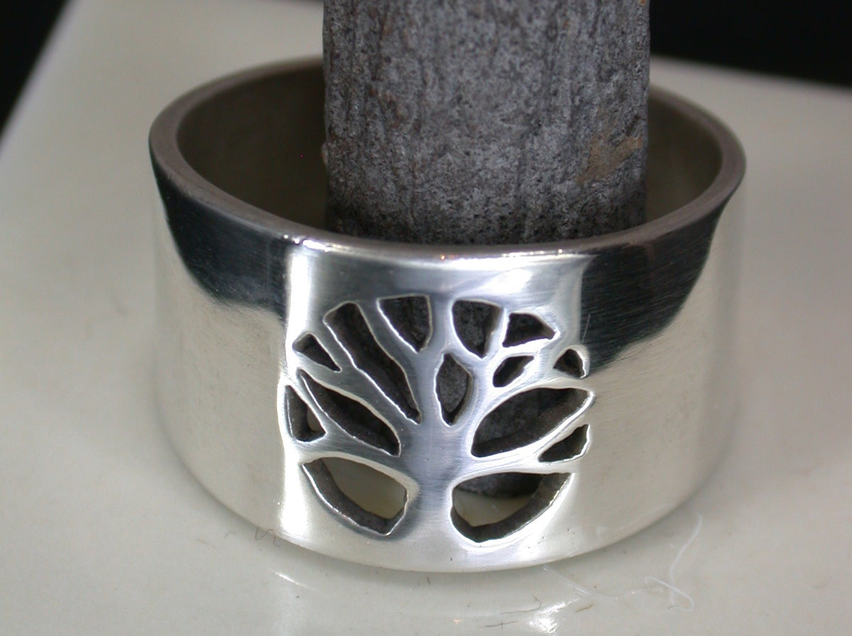 Image of Pierced Tree Medallion Ring