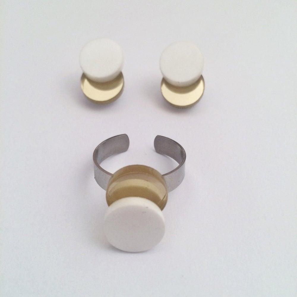 Image of Set náušnic a prstýnku Eclipse