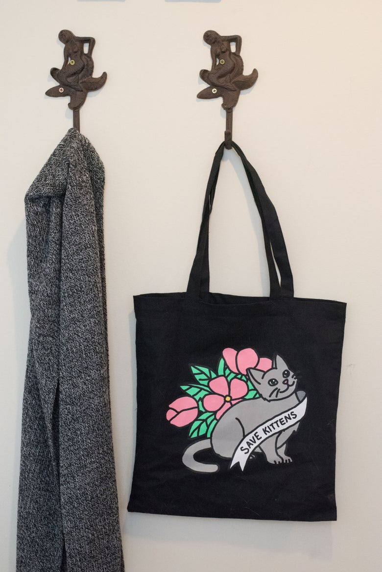 Image of NEW! Save Kittens Tote Bag