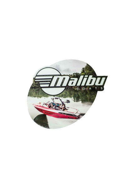 Image of Malibu Boats Sticker - Red