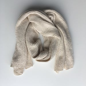 Image of Cream Knit Scarf