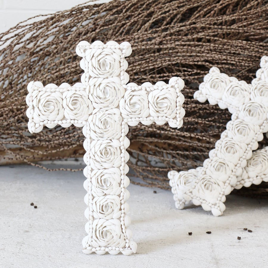 Image of Shell Cross Wall Hanging