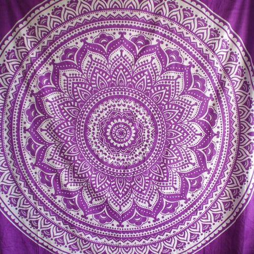Image of Purple Haze Mandala Throw or Throw Set, from