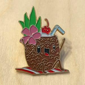 "Image of ""Thurston & Lovey"" enamel pin"