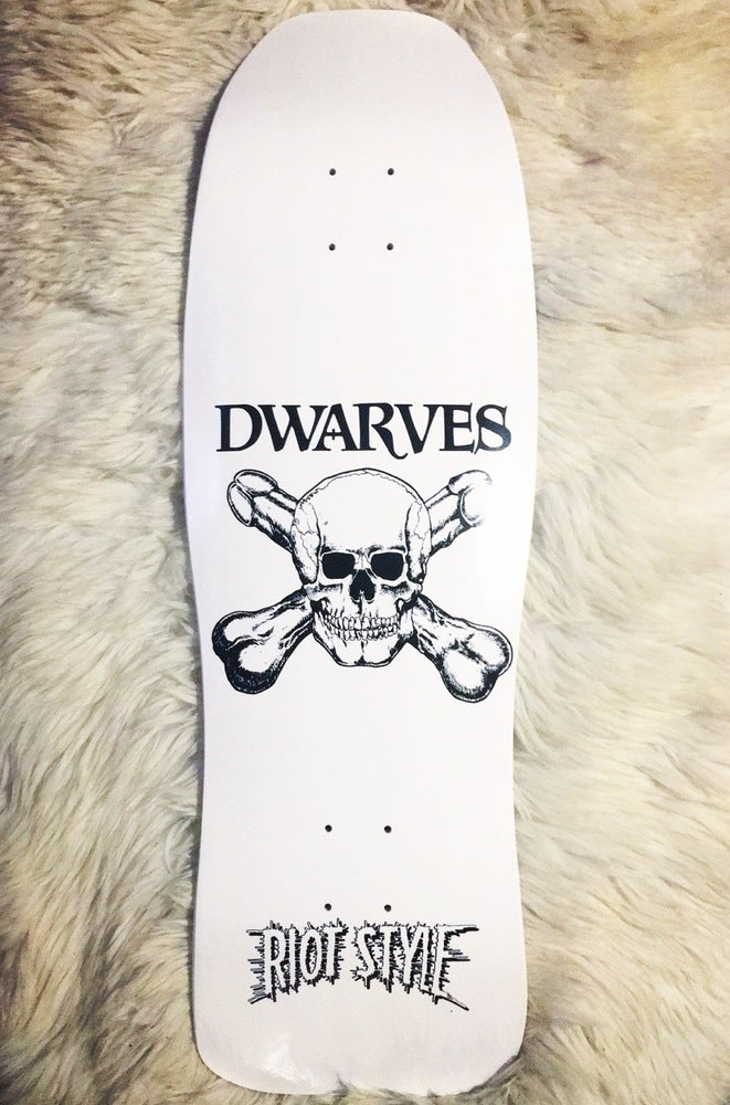 Image of The Dwarves - Skull & Cross Boners Logo Pool Skate Deck (Limited Edition)