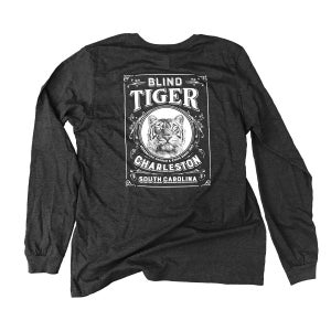 Image of Blind Tiger Longsleeve Shirt: Charcoal