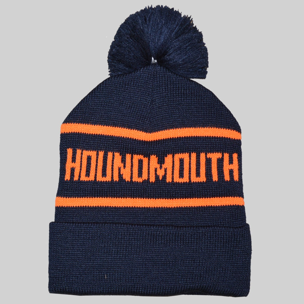 Image of Winter Knit Beanie - Navy/Orange