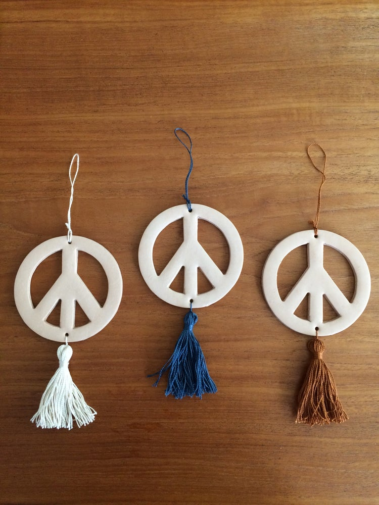 Image of COSTA SUR- Leather Peace Ornament