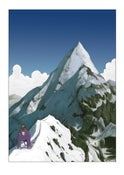 Image of Untitled Ape's Epic Adventure - Mountain Poster by Steven Tillotson