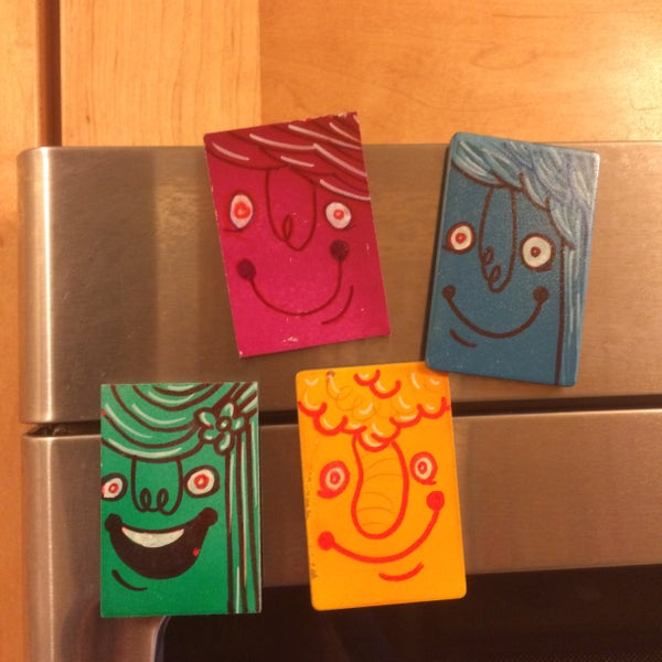 Image of dF 4 Pack 'ALL SMILES!' fridge buddies