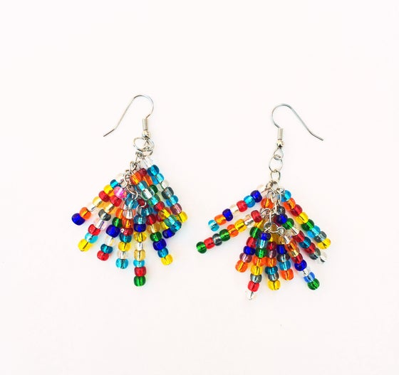 Image of Glass Fringe Earrings