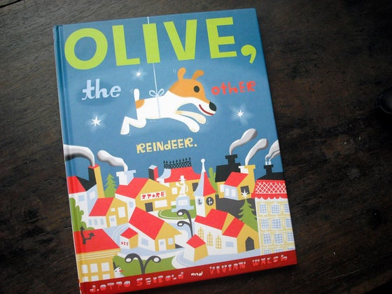 Image of signed OLIVE THE OTHER REINDEER books... rescued from amazon.com
