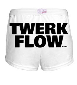 Image of White Twerk Flow Athletic Shorts