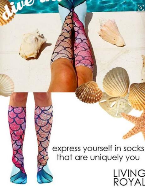 Image of Long socks Mermaid base socks
