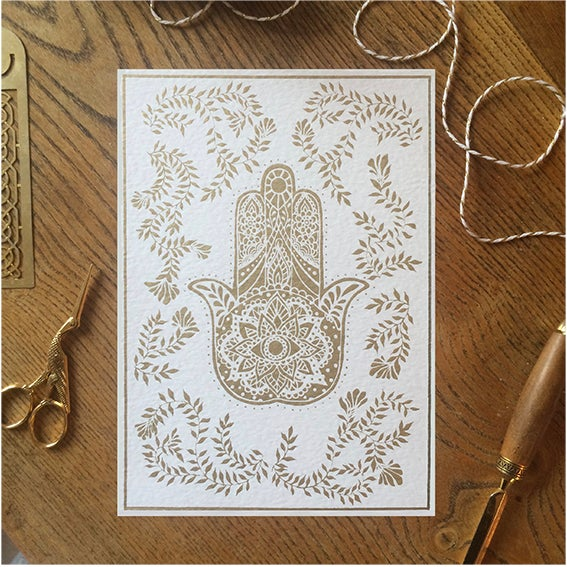 Image of Hand of Fatima - Limited Edition Screen Print