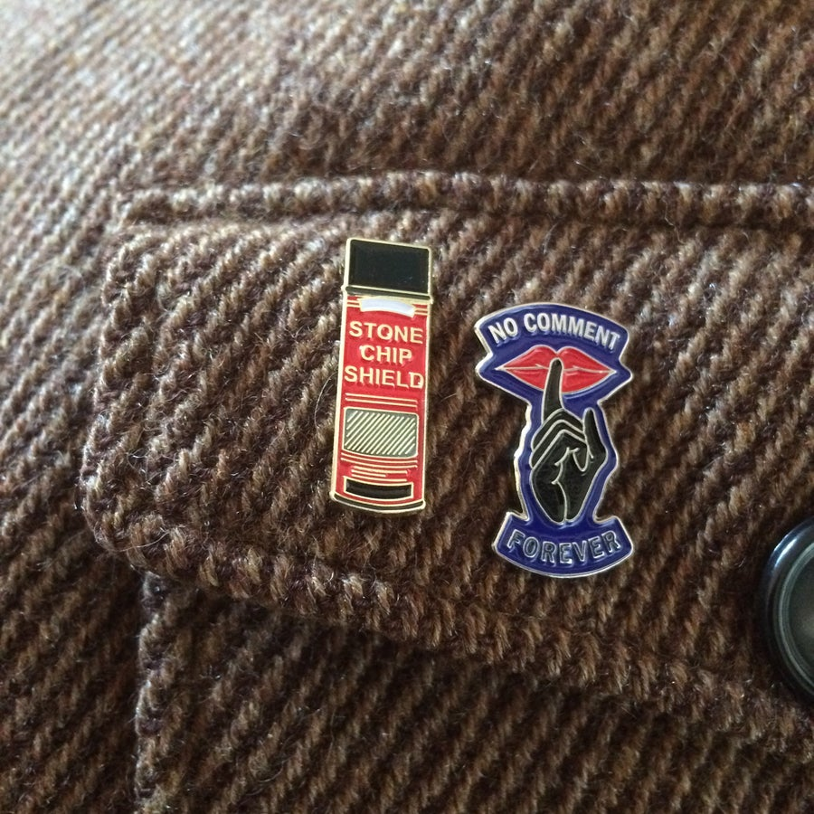 Image of Stone Chip Shield Spraycan - Pin Badge