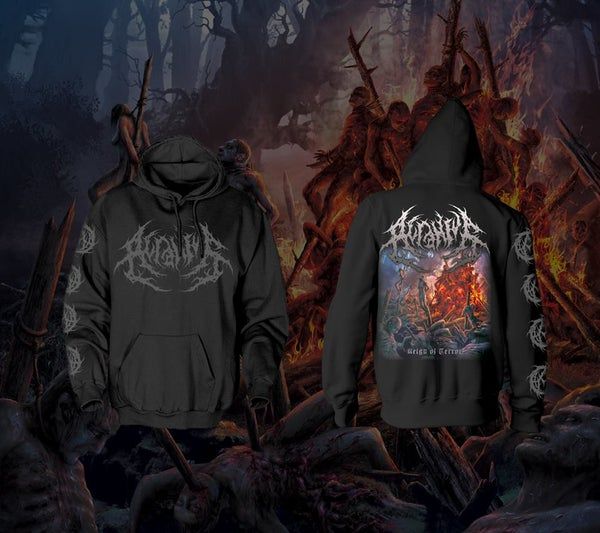 Image of ACRANIUS - Reign of Terror Artwork Hoodie