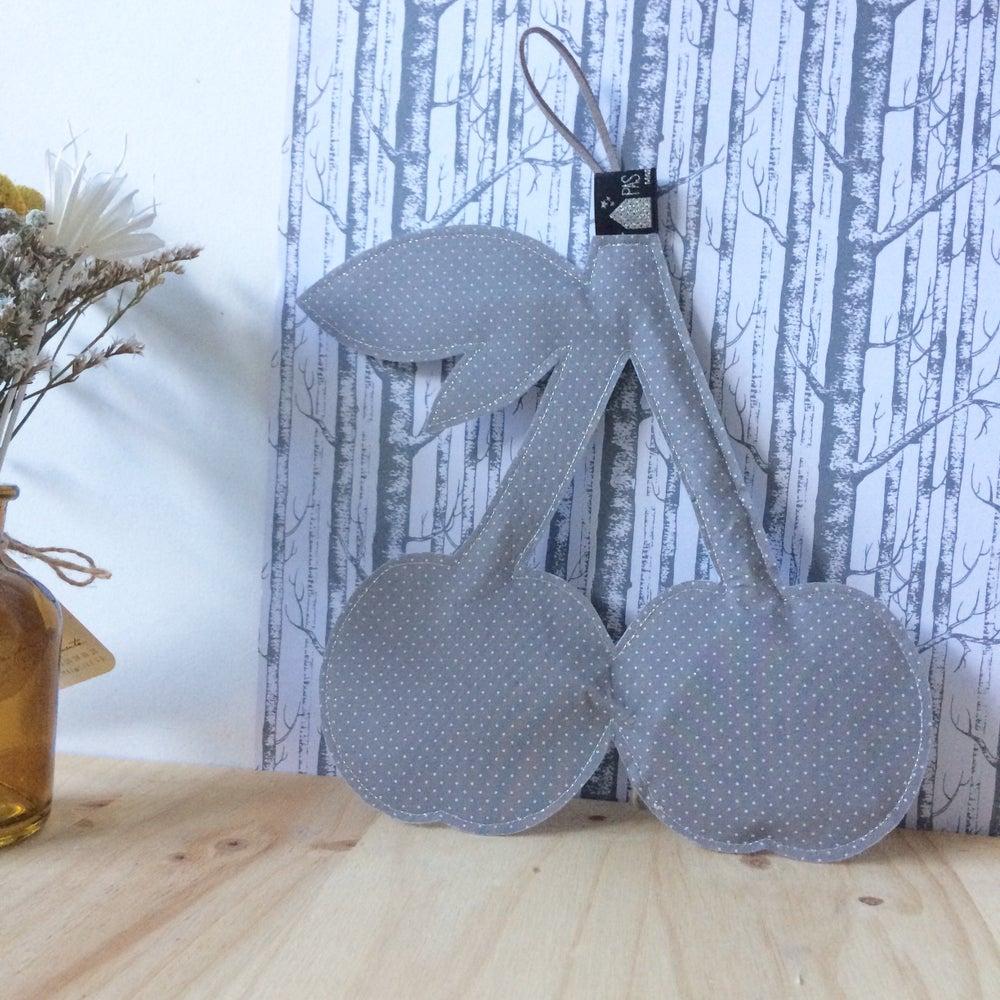 Image of Veilleuse réversible CERISES en  Liberty gris