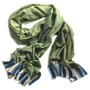 Image of ARMY & INDIGO STRIPE SCARF