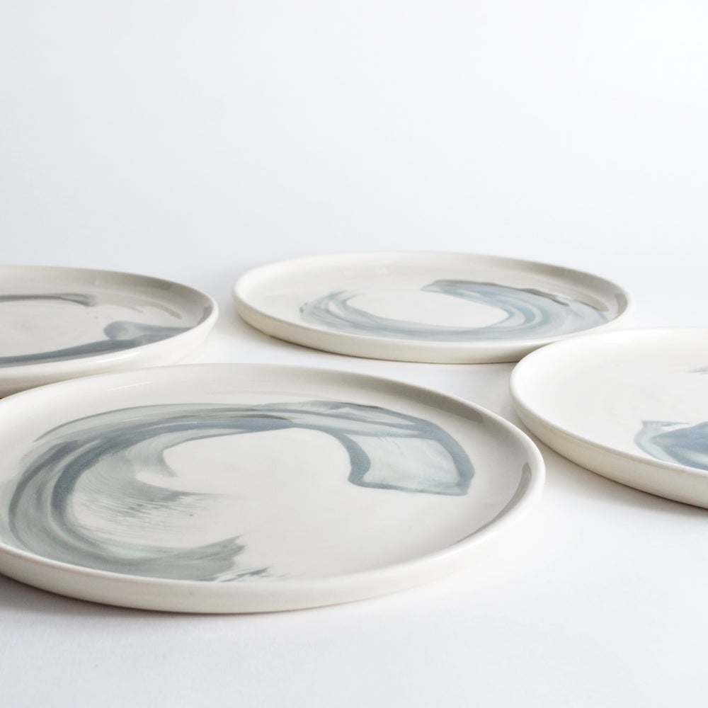 Image of set of 4 dinner plates