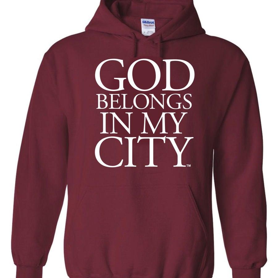 Image of Burgandy hoodie