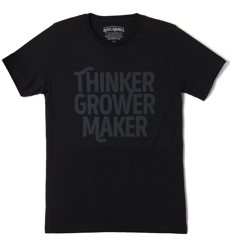 Image of MEN'S THINKER, GROWER, MAKER T-SHIRT