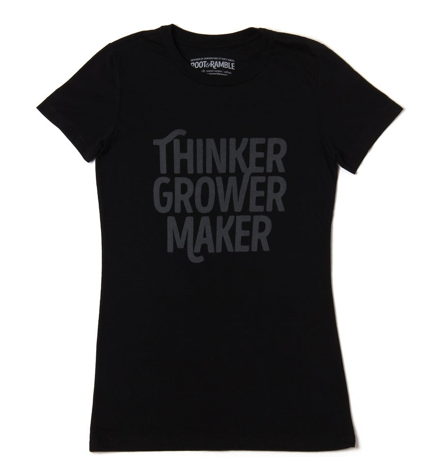 Image of WOMEN'S THINKER GROWER MAKER T-SHIRT