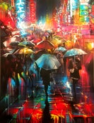 Image of > SOLD < - 'Electric Avenues' - Original painting on canvas