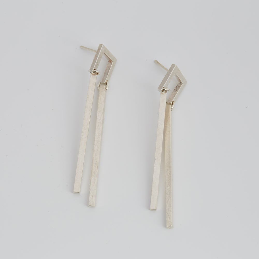 Image of Ratio Earrings - Sterling Silver