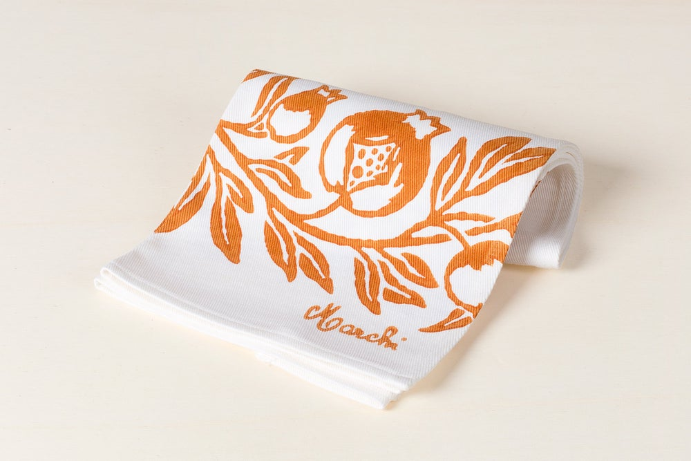 Image of CANOVACCIO STAMPATO A RUGGINE / RUST PRINTED TOWEL