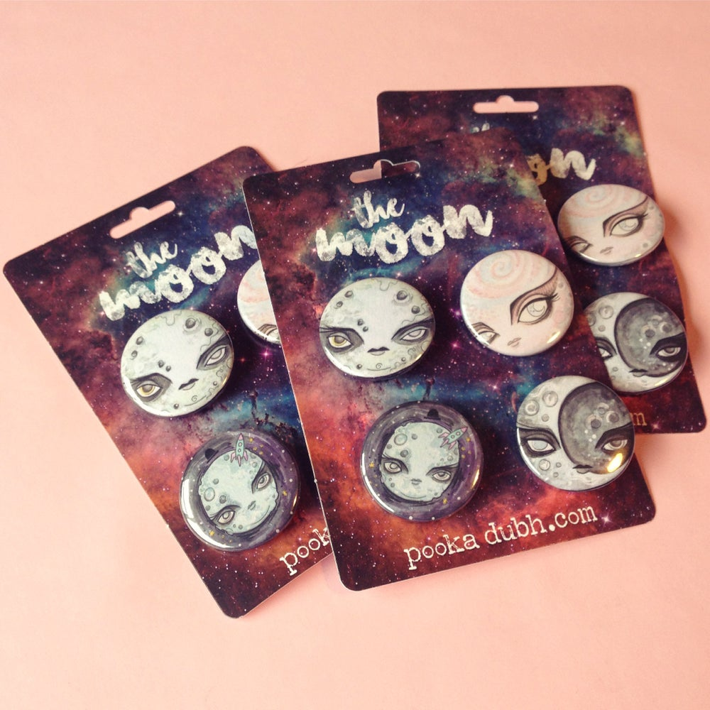 Image of Moon Badge Pack