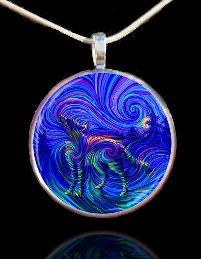 Image of Spirit Wolf Energy Pendant