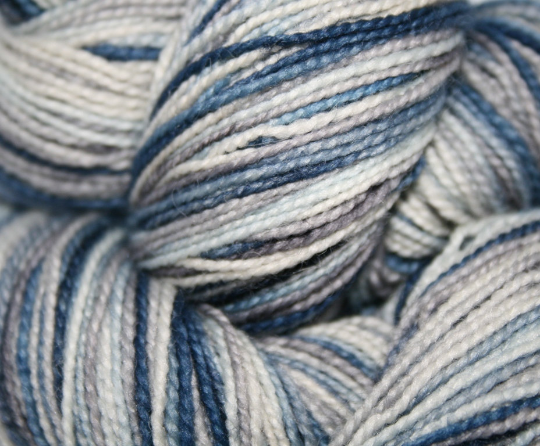 Image of Weekend Jeans: Superwash Strong Heart or Boot Strap BFL Self Striping Sock Yarn