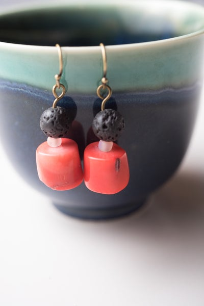 Image of Coral Diffuser Earrings