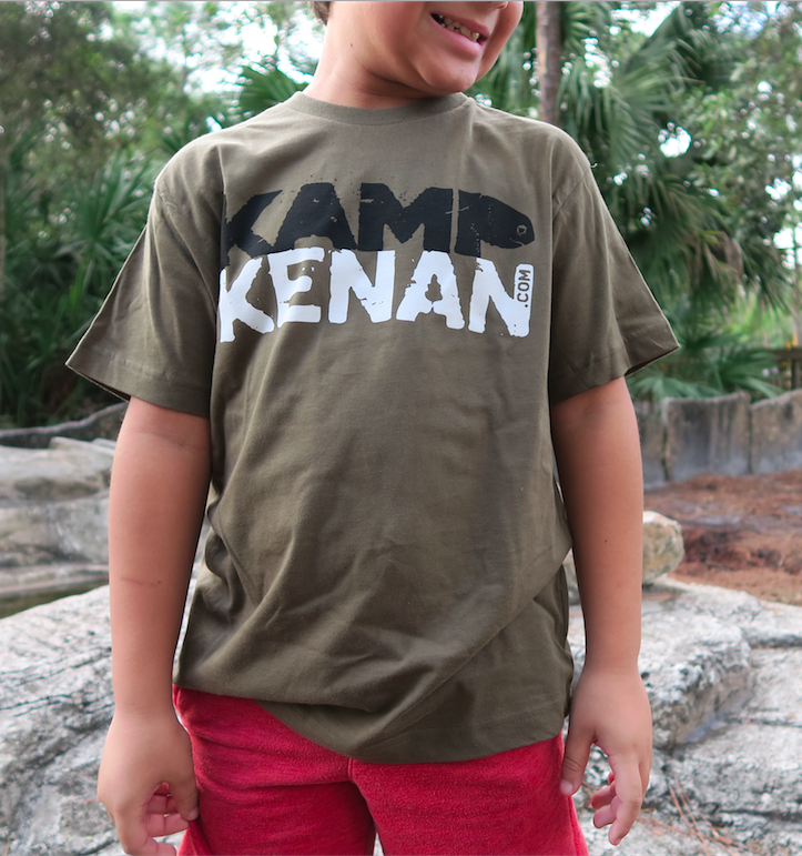 Image of Kamp Kenan - Youth Tee (Military Green)