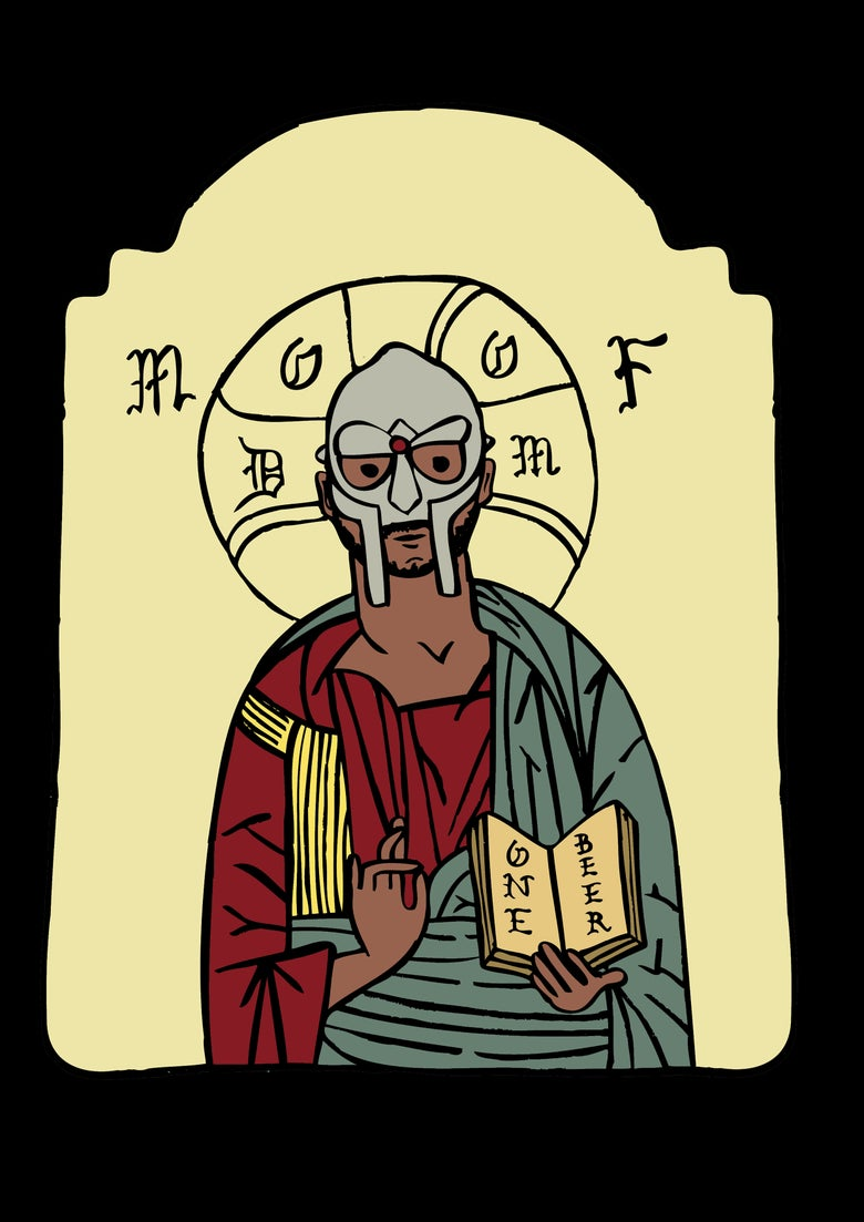 Image of MF DOOM Print.