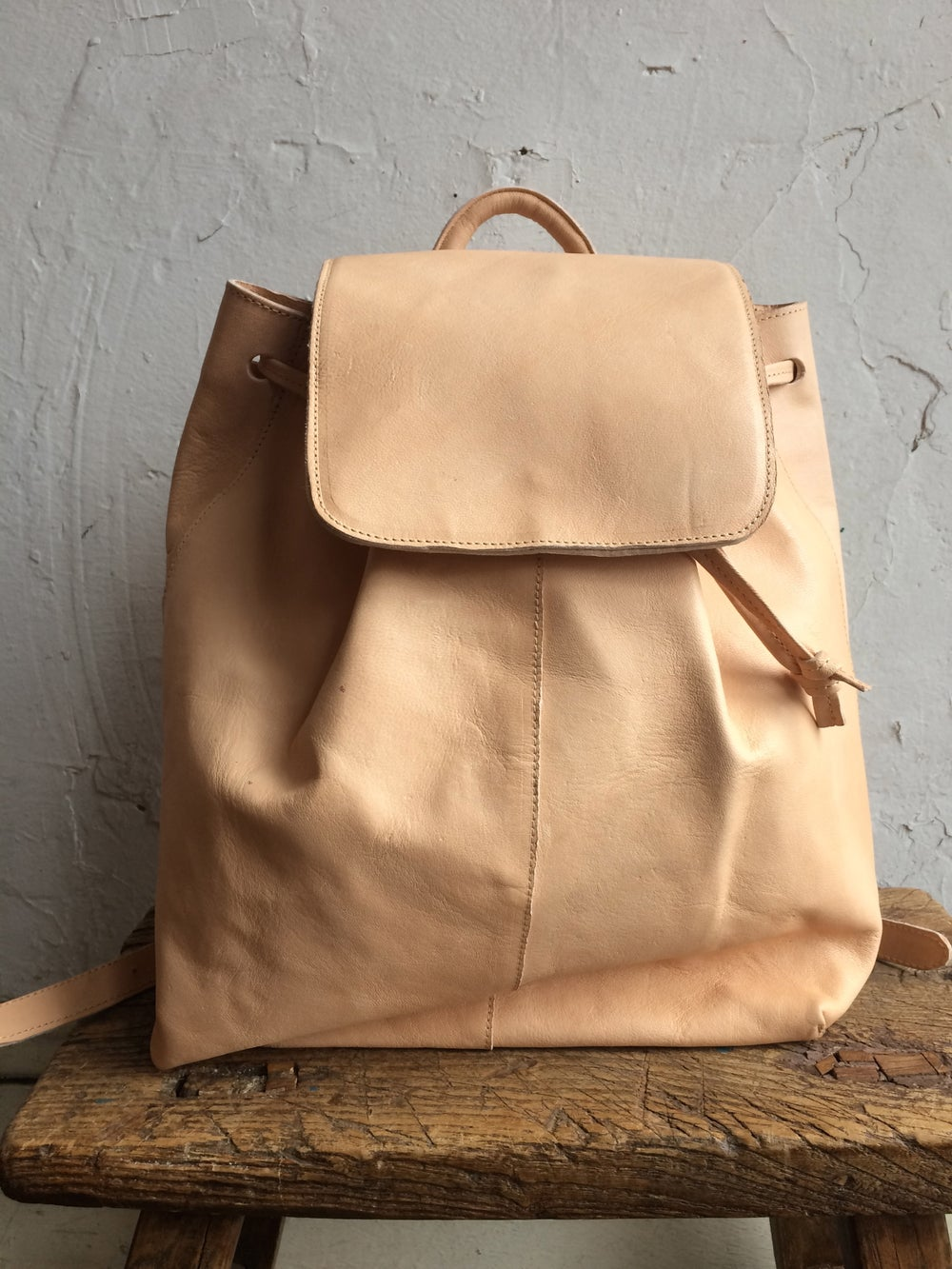 Image of Moyi Moyi Nude Leather Backpack