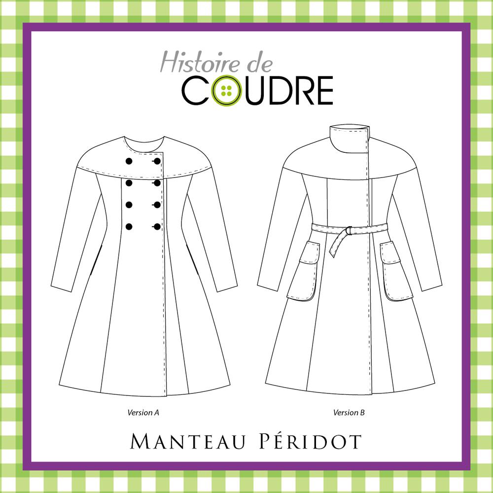 Image of Manteau Péridot - Patron Pochette