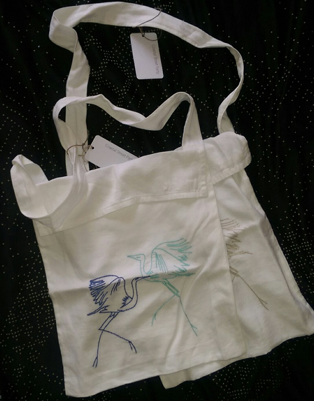 Image of Tote bag. Pair of Egrets