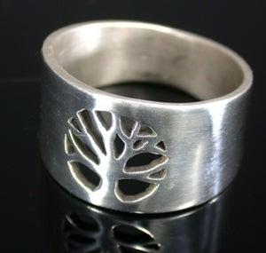Image of Pierced Tree Medallion Ring