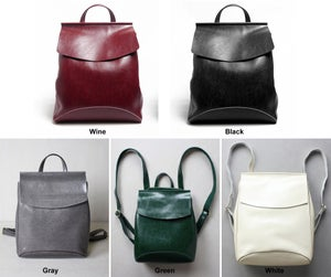 Image of Women's Handmade Leather Backpack / Day Pack / Leather Satchel (B02)