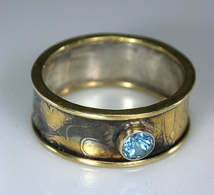 Image of Gold and Silver Topaz Ring