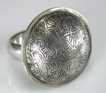 Image of Etched Sterling Silver Ring