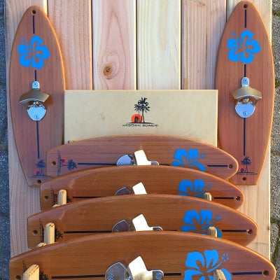 Image of Surfboard Bottle Opener