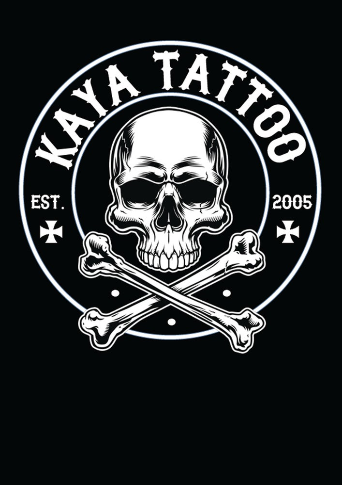 Image of Kaya Tattoo Mens T Shirt- Side of Chest print